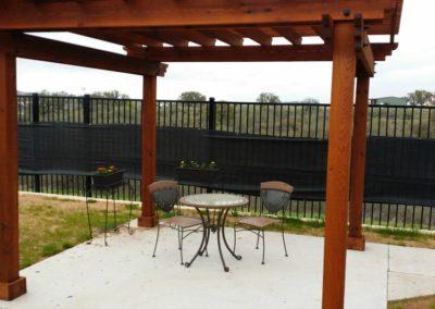 Secure Outdoor Memory Care Patio Area